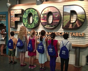 I'm on the far left wearing my White House bag at the Julia Child FOOD exhibit July 2013.