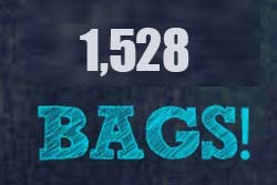 Since July 2013 - 1,528 bags have been handed out