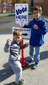 Me and my brother at the voting place