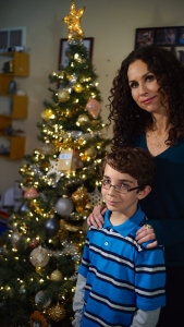 Braeden Mannering and Minnie Driver