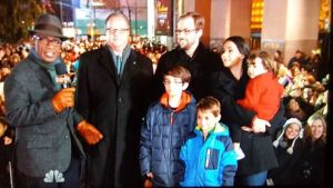 My family and I with Al Roker and Jim O'Sullivan CEO of Mazda at the tree lighting